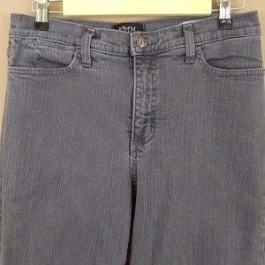 NYDJ High Waisted Straight Leg Jeans Gray Sz 8